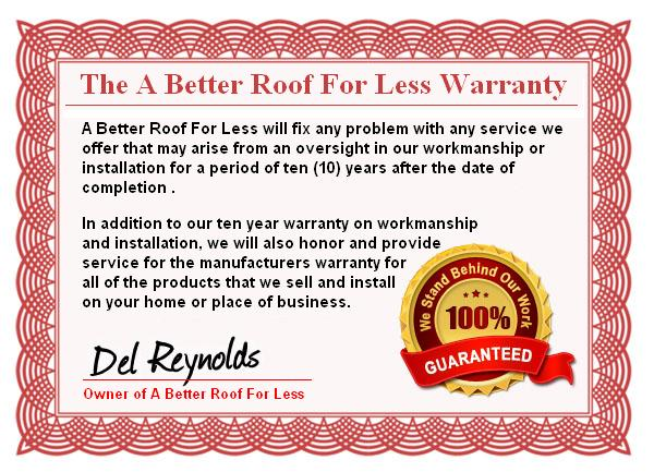 A Better Roof For Less-warranty